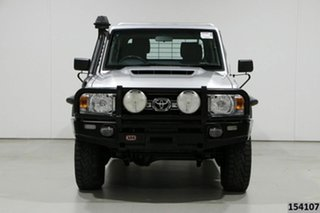 2017 Toyota Landcruiser VDJ79R GXL (4x4) Silver 5 Speed Manual Double Cab Chassis.