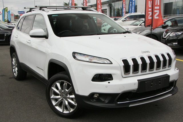 Used Jeep Cherokee KL MY15 Limited Aspley, 2015 Jeep Cherokee KL MY15 Limited White 9 Speed Sports Automatic Wagon