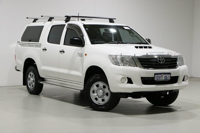 Used Toyota Hilux KUN26R MY12 SR (4x4) Bentley, 2012 Toyota Hilux KUN26R MY12 SR (4x4) White 4 Speed Automatic Dual Cab Pick-up