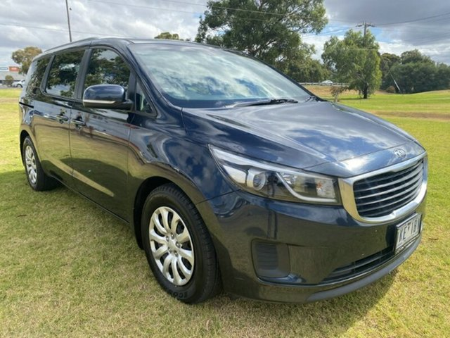 Used Kia Carnival YP MY15 S Melton, 2015 Kia Carnival YP MY15 S Blue 6 Speed Sports Automatic Wagon