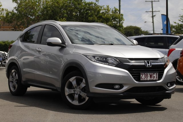 Used Honda HR-V MY15 VTi-S Mount Gravatt, 2015 Honda HR-V MY15 VTi-S Silver 1 Speed Constant Variable Hatchback