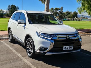 2016 Mitsubishi Outlander ZK MY17 LS 4WD White 6 Speed Constant Variable Wagon.