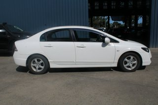 2010 Honda Civic MY10 VTi LE White 5 Speed Manual Sedan
