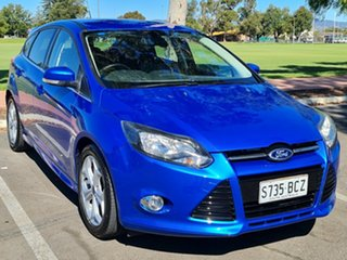 2014 Ford Focus LW MkII Sport Blue 5 Speed Manual Hatchback.