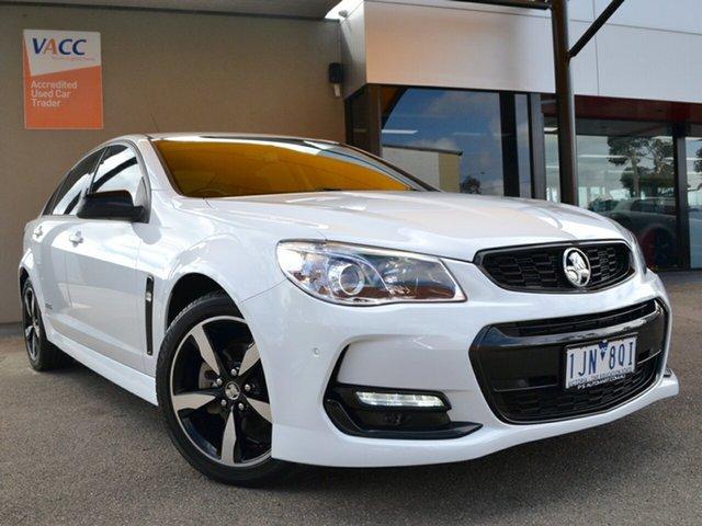 Used Holden Commodore VF II MY16 SV6 Black Fawkner, 2016 Holden Commodore VF II MY16 SV6 Black White 6 Speed Sports Automatic Sedan