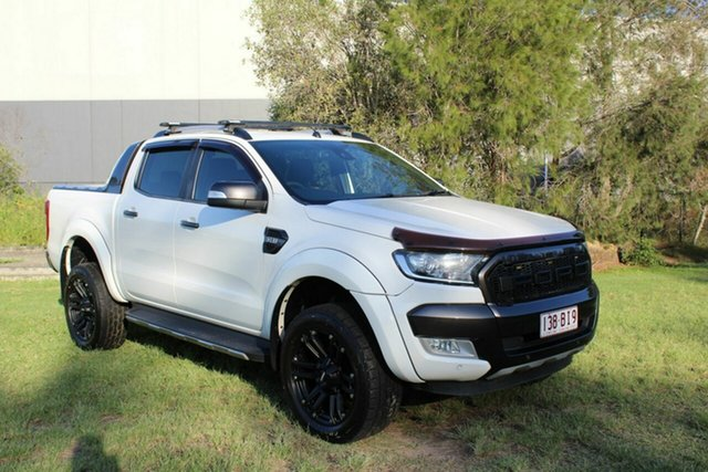 Used Ford Ranger PX Wildtrak Double Cab Ormeau, 2015 Ford Ranger PX Wildtrak Double Cab White 6 Speed Sports Automatic Utility