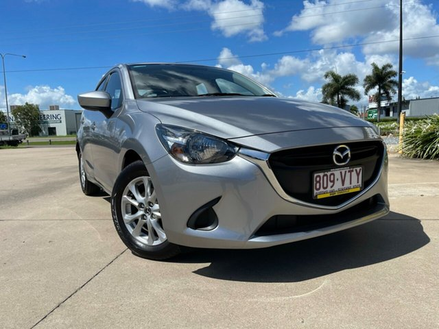 Used Mazda 2 DJ2HAA Maxx SKYACTIV-Drive Townsville, 2015 Mazda 2 DJ2HAA Maxx SKYACTIV-Drive Silver 6 Speed Sports Automatic Hatchback