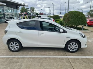 2012 Toyota Prius c NHP10R E-CVT White 1 Speed Constant Variable Hatchback Hybrid.