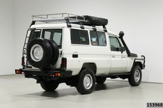 2011 Toyota Landcruiser VDJ78R 09 Upgrade Workmate (4x4) 3 Seat White 5 Speed Manual TroopCarrier