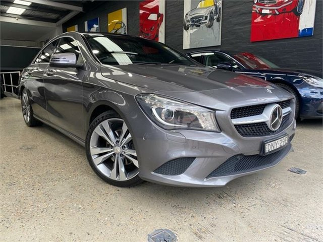 Used Mercedes-Benz CLA-Class C117 Glebe, 2014 Mercedes-Benz CLA-Class C117 CLA200 CDI Grey Sports Automatic Dual Clutch Coupe