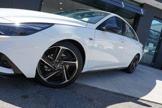 2020 Hyundai i30 CN7.V1 MY21 N Line Polar White 7 Speed Auto Dual Clutch Sedan.