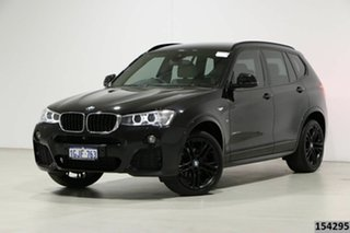 2017 BMW X3 F25 MY17 xDrive20d Black 8 Speed Automatic Wagon.