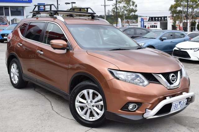 Used Nissan X-Trail T32 ST-L X-tronic 4WD Ferntree Gully, 2014 Nissan X-Trail T32 ST-L X-tronic 4WD Gold 7 Speed Constant Variable Wagon