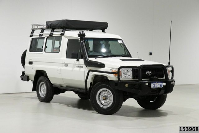 Used Toyota Landcruiser VDJ78R 09 Upgrade Workmate (4x4) 3 Seat Bentley, 2011 Toyota Landcruiser VDJ78R 09 Upgrade Workmate (4x4) 3 Seat White 5 Speed Manual TroopCarrier