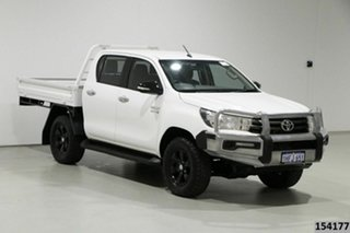 2016 Toyota Hilux GUN126R SR (4x4) White 6 Speed Manual Dual Cab Chassis