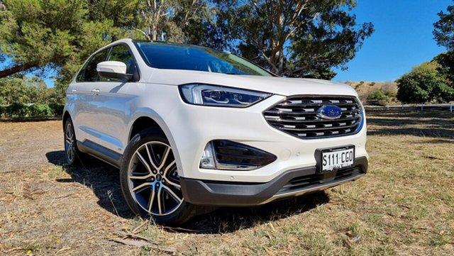 Demo Ford Endura CA 2019MY Titanium Port Adelaide, 2019 Ford Endura CA 2019MY Titanium White Platinum 8 Speed Sports Automatic Wagon