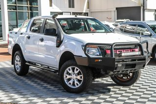 2012 Ford Ranger PX XLT Double Cab White 6 Speed Manual Utility.