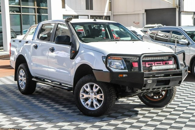 Used Ford Ranger PX XLT Double Cab Attadale, 2012 Ford Ranger PX XLT Double Cab White 6 Speed Manual Utility