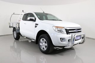 2014 Ford Ranger PX XLT 3.2 Hi-Rider (4x2) White 6 Speed Automatic Super Cab Utility.