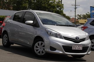 2014 Toyota Yaris NCP131R YRS Silver 4 Speed Automatic Hatchback.