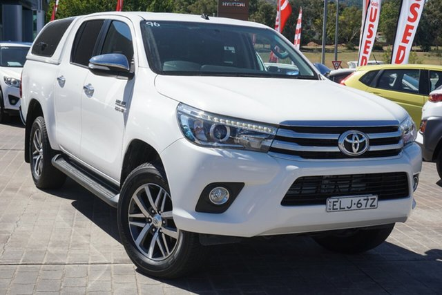 Used Toyota Hilux GUN126R SR5 Double Cab Phillip, 2016 Toyota Hilux GUN126R SR5 Double Cab White 6 Speed Manual Utility