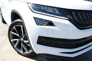 2020 Skoda Kodiaq NS MY21 132TSI DSG Sportline Moon White 7 Speed Sports Automatic Dual Clutch Wagon.