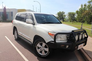 2014 Toyota Landcruiser VDJ200R MY13 Sahara Crystal Pearl 6 Speed Automatic Wagon.
