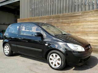 2008 Hyundai Getz TB MY07 S Black 4 Speed Automatic Hatchback.
