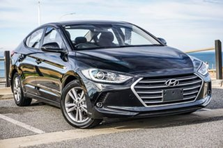 2017 Hyundai Elantra AD MY18 Active Black 6 Speed Sports Automatic Sedan.
