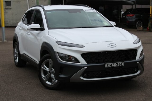 Demo Hyundai Kona Os.v4 MY21 Elite 2WD Tuggerah, 2020 Hyundai Kona Os.v4 MY21 Elite 2WD Atlas White 8 Speed Constant Variable Wagon