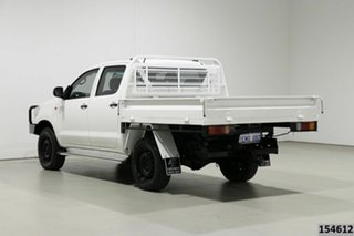 2014 Toyota Hilux KUN26R MY14 SR (4x4) White 5 Speed Manual Dual Cab Chassis