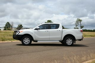 2014 Mazda BT-50 MY13 XTR (4x4) White 6 Speed Manual Dual Cab Utility.