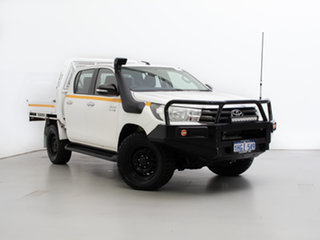 2017 Toyota Hilux GUN126R MY17 SR (4x4) White 6 Speed Automatic Dual Cab Chassis.