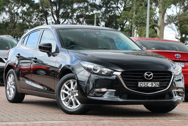 Pre-Owned Mazda 3 BN5478 Touring SKYACTIV-Drive Warwick Farm, 2017 Mazda 3 BN5478 Touring SKYACTIV-Drive Black 6 Speed Sports Automatic Hatchback