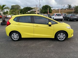 2015 Honda Jazz GF MY15 VTi Yellow 5 Speed Manual Hatchback.