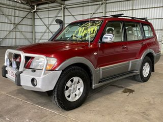2004 Mitsubishi Pajero NP MY05 Exceed Red 5 Speed Sports Automatic Wagon.