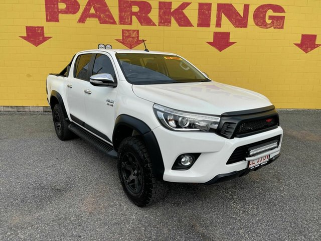 Used Toyota Hilux GUN126R SR5 Double Cab Winnellie, 2017 Toyota Hilux GUN126R SR5 Double Cab White 6 Speed Sports Automatic Utility