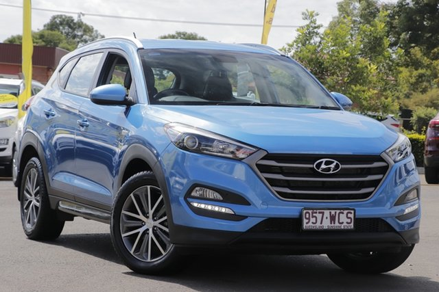 Used Hyundai Tucson TL Active X 2WD Toowoomba, 2015 Hyundai Tucson TL Active X 2WD Blue 6 Speed Sports Automatic Wagon
