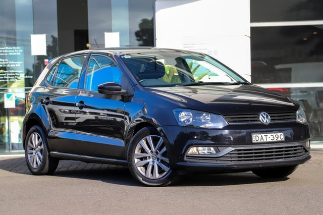 Used Volkswagen Polo 6R MY15 81TSI DSG Comfortline Sutherland, 2015 Volkswagen Polo 6R MY15 81TSI DSG Comfortline Black 7 Speed Sports Automatic Dual Clutch