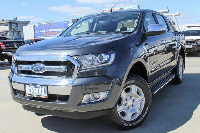 Used Ford Ranger PX MkII XLT Double Cab Coburg North, 2015 Ford Ranger PX MkII XLT Double Cab Grey 6 Speed Sports Automatic Utility