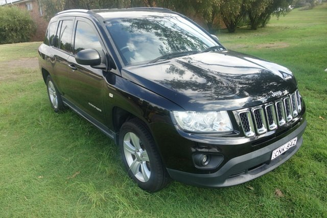 Used Jeep Compass MK MY12 Sport CVT Auto Stick East Maitland, 2012 Jeep Compass MK MY12 Sport CVT Auto Stick Black 6 Speed Constant Variable Wagon