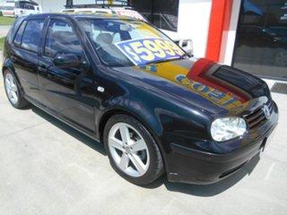 2003 Volkswagen Golf 4th Gen MY02 S Black 5 Speed Manual Hatchback.