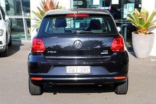 2015 Volkswagen Polo 6R MY15 81TSI DSG Comfortline Black 7 Speed Sports Automatic Dual Clutch