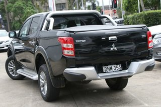 2017 Mitsubishi Triton MQ MY17 GLS (4x4) Black 6 Speed Manual Dual Cab Utility.
