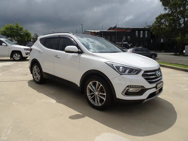 Used Hyundai Santa Fe DM3 MY16 Highlander Nowra, 2015 Hyundai Santa Fe DM3 MY16 Highlander White 6 Speed Automatic Wagon