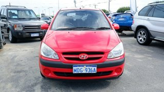 2007 Hyundai Getz TB MY06 Red 5 Speed Manual Hatchback