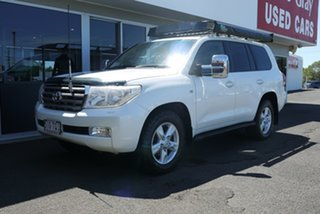 2010 Toyota Landcruiser VDJ200R MY10 Sahara White 6 Speed Sports Automatic Wagon