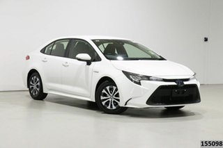 2019 Toyota Corolla ZWE211R Ascent Sport (Hybrid) White Continuous Variable Sedan.