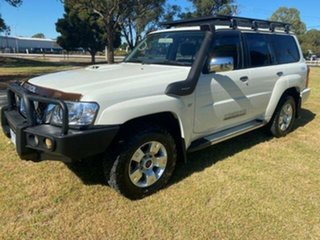 2013 Nissan Patrol GU VIII ST (4x4) White 4 Speed Automatic Wagon.