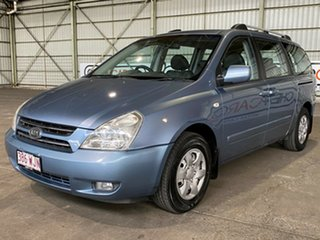 2007 Kia Grand Carnival VQ Premium Blue 5 Speed Sports Automatic Wagon.